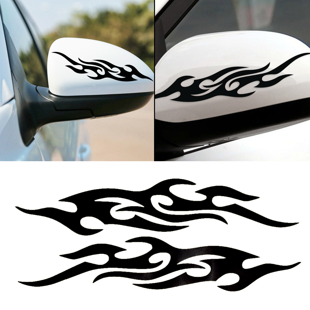 1 piece Motorcycle Reflective stickers on cars Flame sticker For ford Car styling Car covers accessories