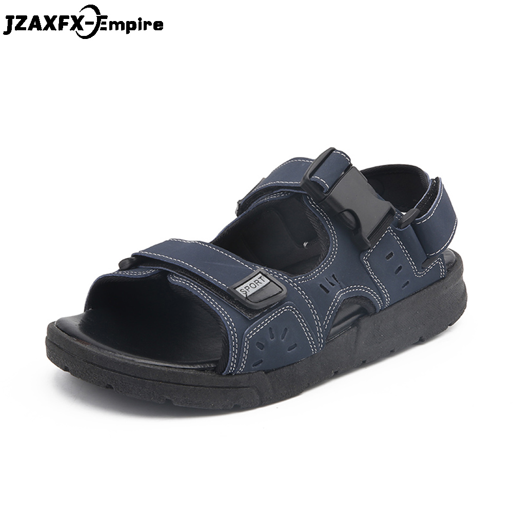 2018 New Arrival Men Beach Sandals Non-slip Solid Color Male Casual Sandals High Quality Summer Walking Sandals