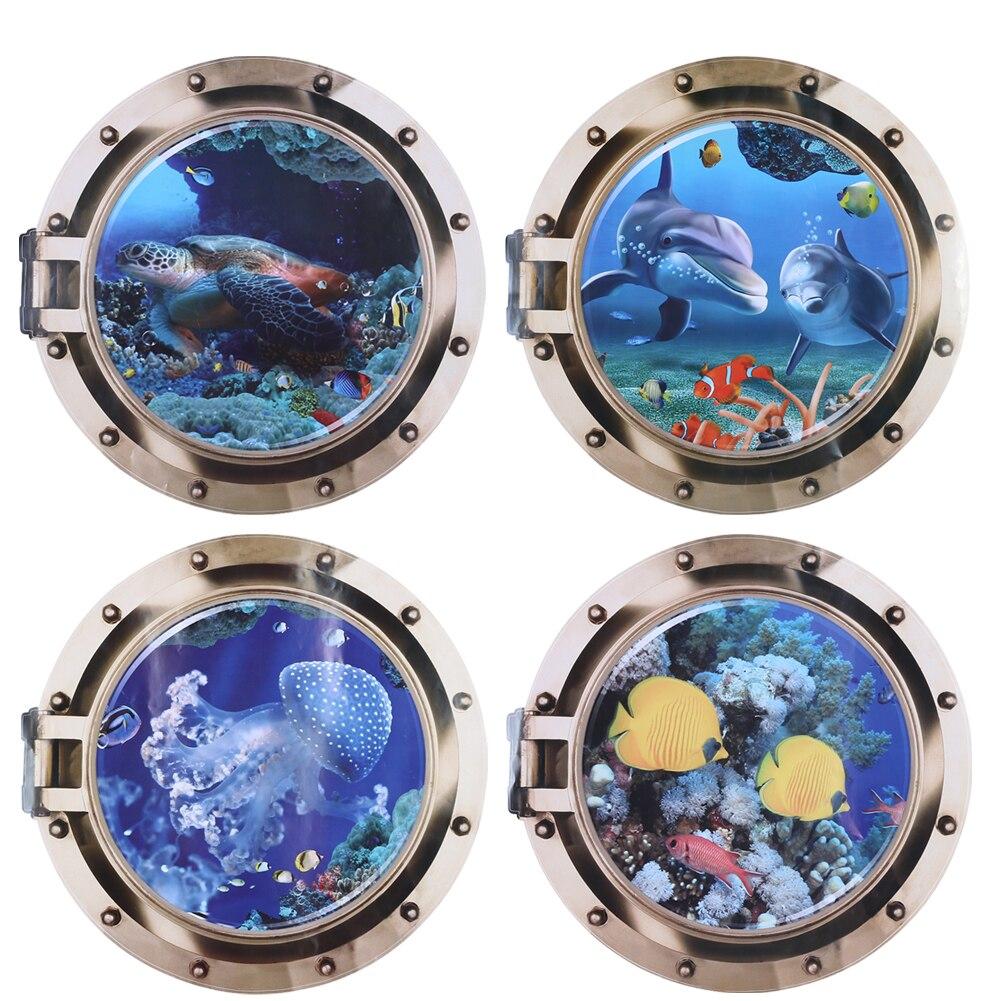 Stickers Pour Fenetre Chambre €2.06 18% de réduction|fausse fenêtre 3d monde de la mer stickers muraux  pour salon chambre décoration océan vue affiche sticker mural art décalque