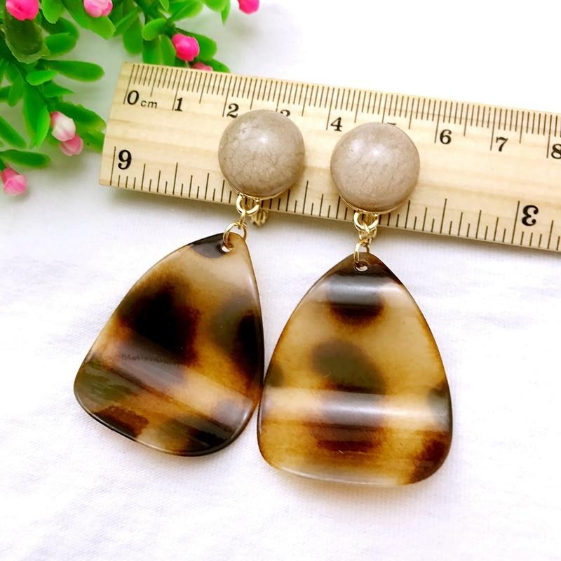 UJBOX Leopard Tortoise Resin Acrylic Drop Earrings Women Girls Party Statement Earrings Wholesale