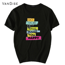 VanGise T shirt men 2017 New Summer Tee Shirts brand clothing t-shirt male casual mens short sleeve t shirt black white homme