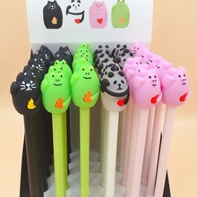 36pcs/pack Cartoon Black Ink Frog Pig Panda Sea Lion Gel Pen Unisex Rollerball Sign School Prize Gift Stationery