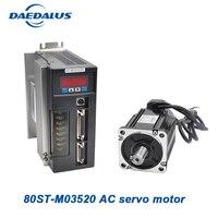 0.73Kw 80ST_M03520 servo motor mini AC Servo motor three phase Servo Driver for cnc electric motor speed control 220v