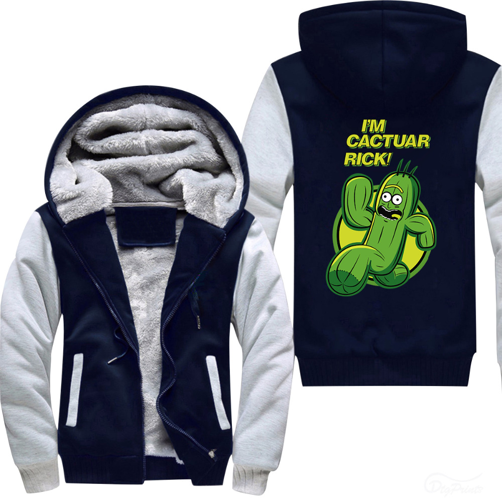 I Am Cactuar Rick Men's thermal Hoodies