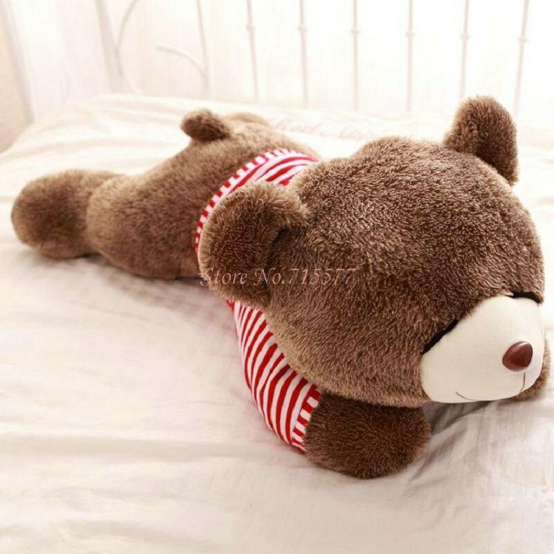 ФОТО 80/120cm Cute Hedgehog Bear Plush Toys Sleep Bear Cloth Doll Pillow Cushion stuffed plush Christmas present Kids Toys