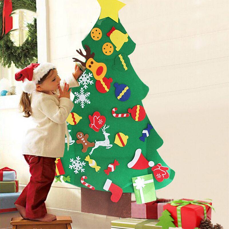 Arbol De Navidad Juego Para Ninos Fieltro Arbol De Navidad Verde