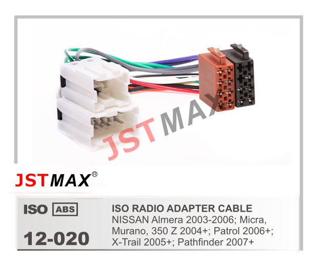 JSTMAX Car ISO Radio Plug for Nissan Almera Micra Murano 350Z Patrol X Trail Pathfinder Wiring aliexpress com buy jstmax car iso radio plug for nissan almera 2003 nissan 350z headlight wiring harness at virtualis.co