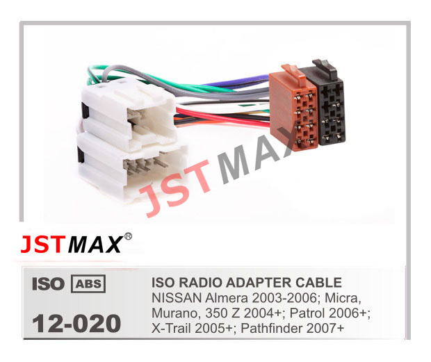 Jstmax Car Iso Radio Plug For Nissan Almera Micra Murano