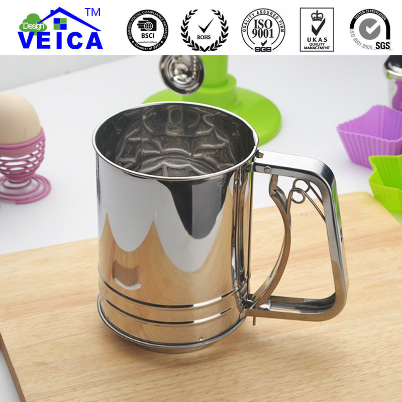 Stainless steel sieve cup screen mesh powder flour sieve baking tools for cake bread cooking tools