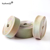 Keythemelife 50 Yards Snow Yarn Ribbon Rainbow Gradient Color DIY Packing Ribbons Gift Wrapping Tape 0D