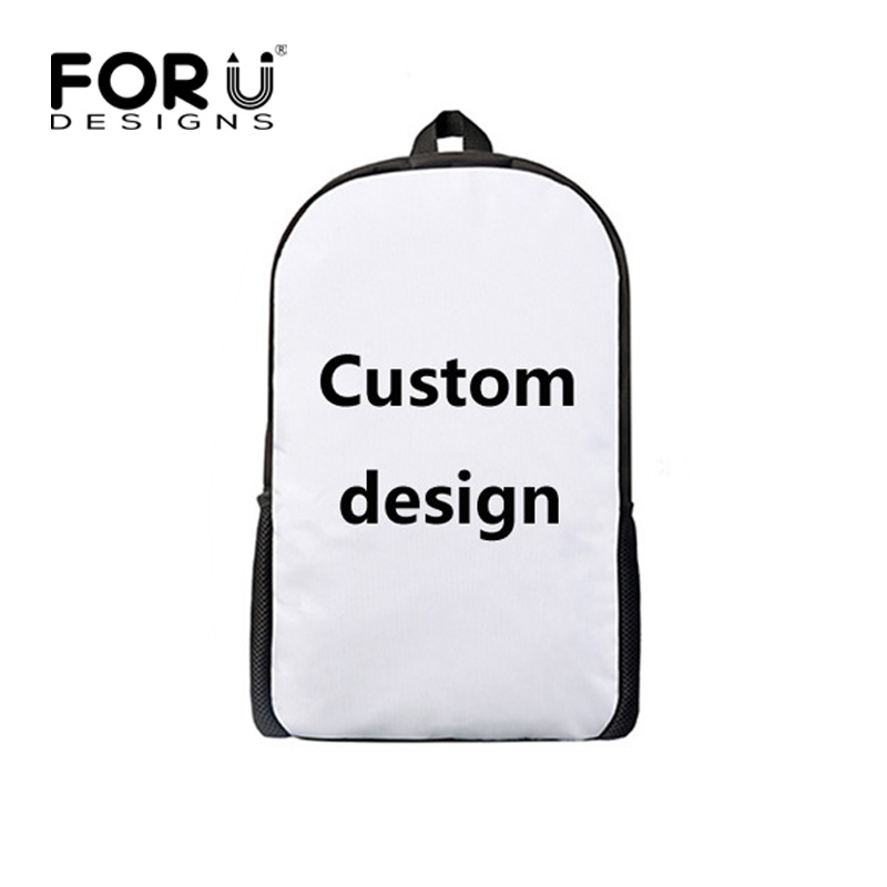 FORUDESIGNS Personalized Classic Children Backpack Custom Kids School Bag