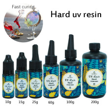 10/15/25/60/100/200g DIY hard UV Resin Ultraviolet Curing Solar Fast Curing Sunlight Activated  Crafts For DIY Jewelry Mold