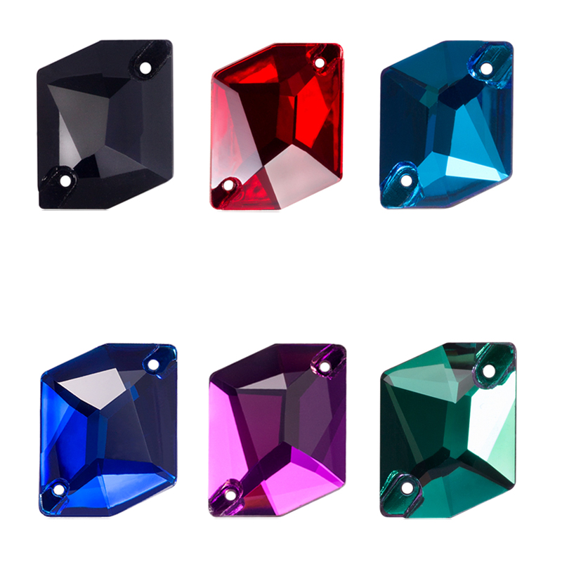 QIAO AAAAA Sew On Stone Top Quality Color Crystal Glass Rhinestone Sewing On Accessories DIY Garment Dress Making