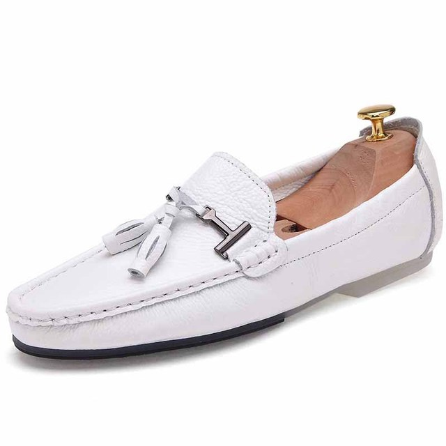 2016 Fashion Men Loafers Luxury Brand Genuine Leather Casual Shoes Men Flats Tassel Moccasin Driving Shoes Man Chaussure Homme 8