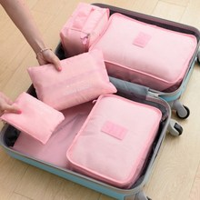 6 PCS Travel Set For Clothes Tidy Organizer Storage Bag Wardrobe Suitcase Pouch Case Shoes Packing Cube