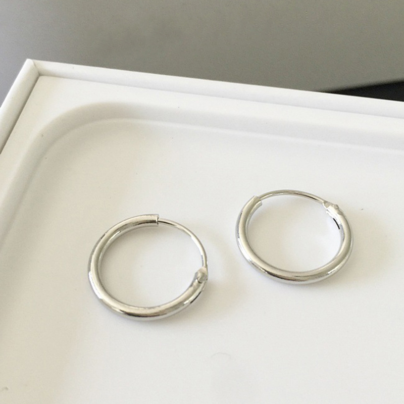 1 Pair Simple Fashion Metal Circle Hoop Earrings For Women/Men Ear Gift Jewelry Accessories