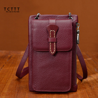 TCTTT Fashion Female Genuine Leather Wallet Coin Hasp Retro Women Wallets And Purses Long Ladies Shoulder