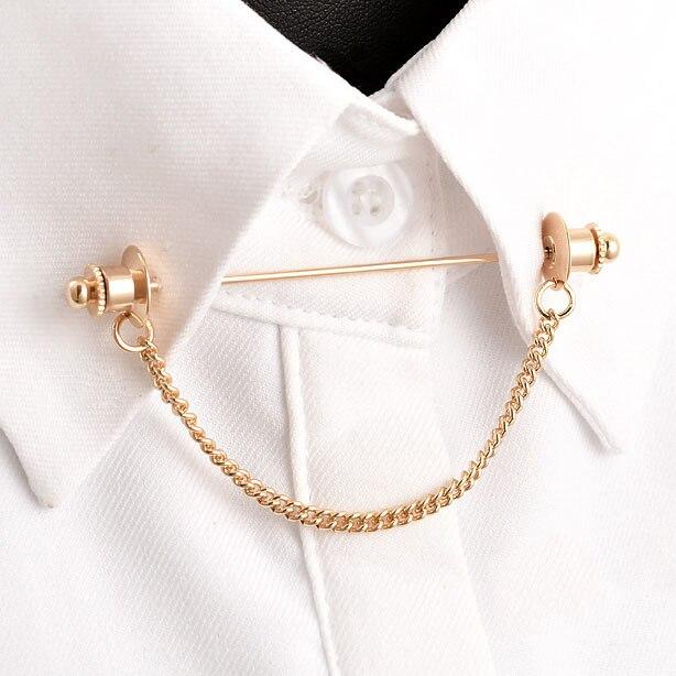 2017 Brosche Unisex Broche Broschen Brosche Trendy Die Neue Heiße Mode Hemdkragen Pin Kette Quaste Retro Metall Bar Zubehör