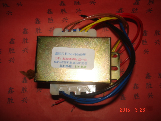 18V 0 18V 55V 11V Transformer 220V input 60VA EI66*40 Full copper wire Switch transformer