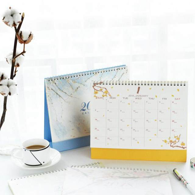 Online Shop 2017 2018 Year Calendar Creative Beautiful Scenery Desk ...