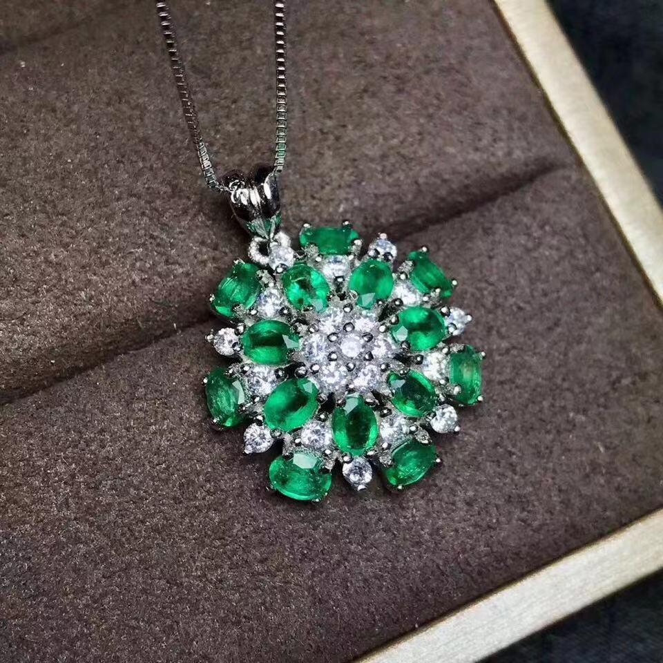 W stylu arabskim gwiazda wisiorek z księżycem z Emerald naturalny szmaragdowy wisiorek Soldi 925 szmaragdowa biżuteria z certyfikatem w Celebrytki od Biżuteria i akcesoria na  Grupa 2