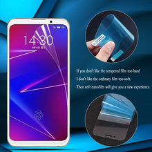 Nano Explosion-proof Soft Film Foil For Meizu M5C 16X 16 Plus 15 Screen Protector for M5S E3 (Not tempered glass)