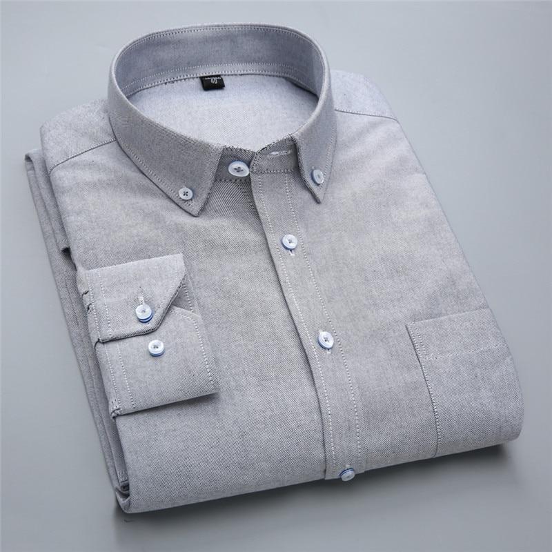 Новий бренд модні сорочки з довгим - Чоловічий одяг - фото 4
