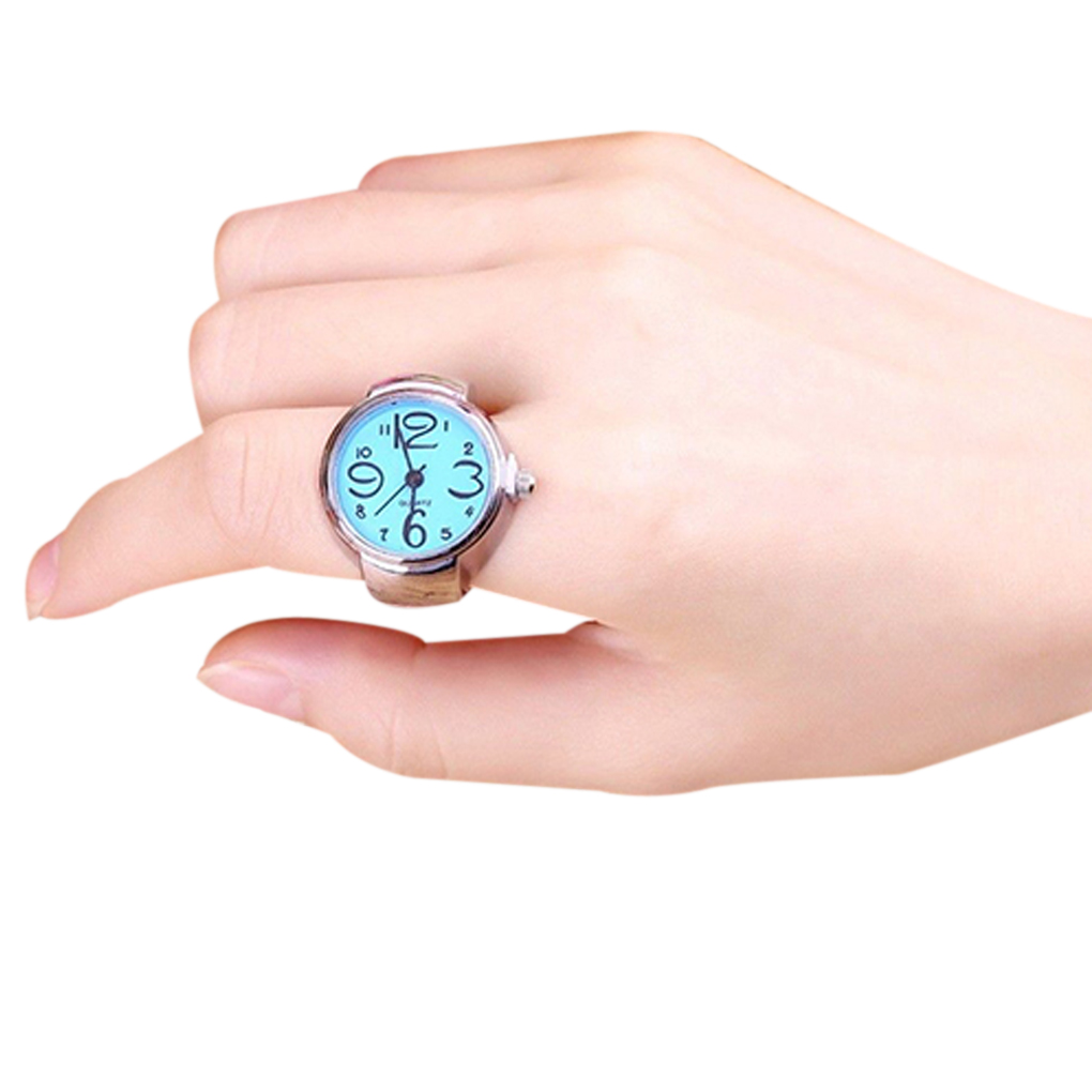 2019 Smart Steel Round Elastic Quartz Finger Ring with-watch New Arrive For Party