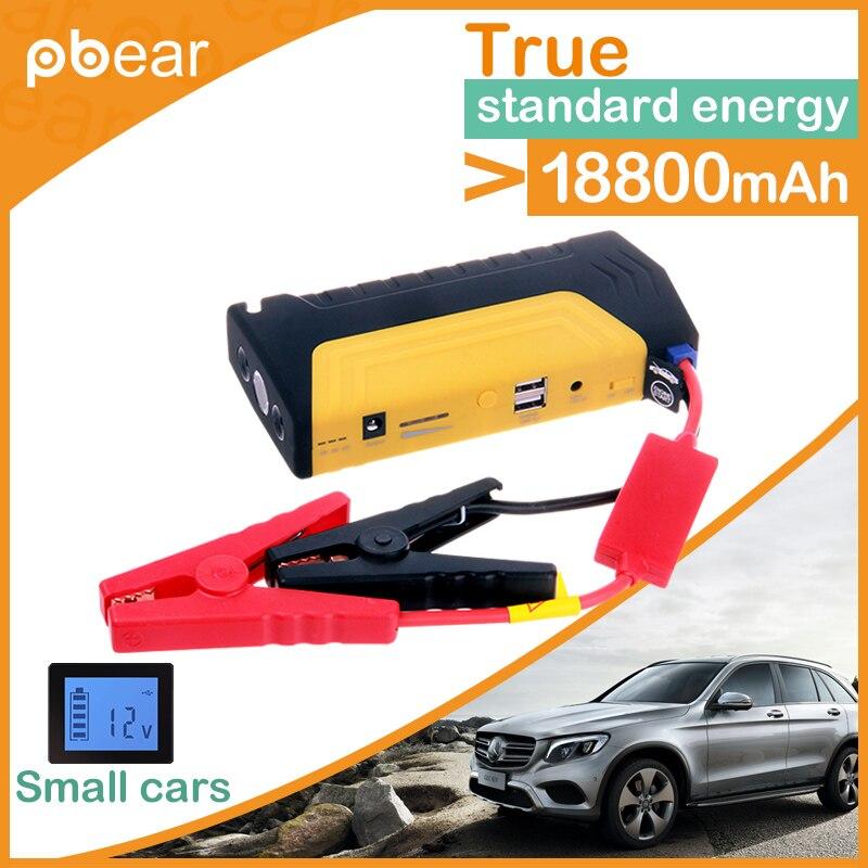 все цены на 18800mAh Portable Car Jump Starter Auto Vehicle Engine Source Multifunctional Power Supply Device PSP Laptop for iphone Samsung онлайн