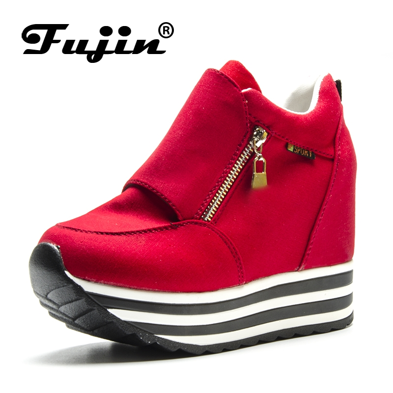 Fujin Spring Autumn Fashion Platform Shoes With Zip Casual Sweet Sneakers Shallow Women Shoes Lady Creeper Loafers Hot Sale spring autumn fashion platform shoes casual sweet sneakers shallow women shoes size 34 43