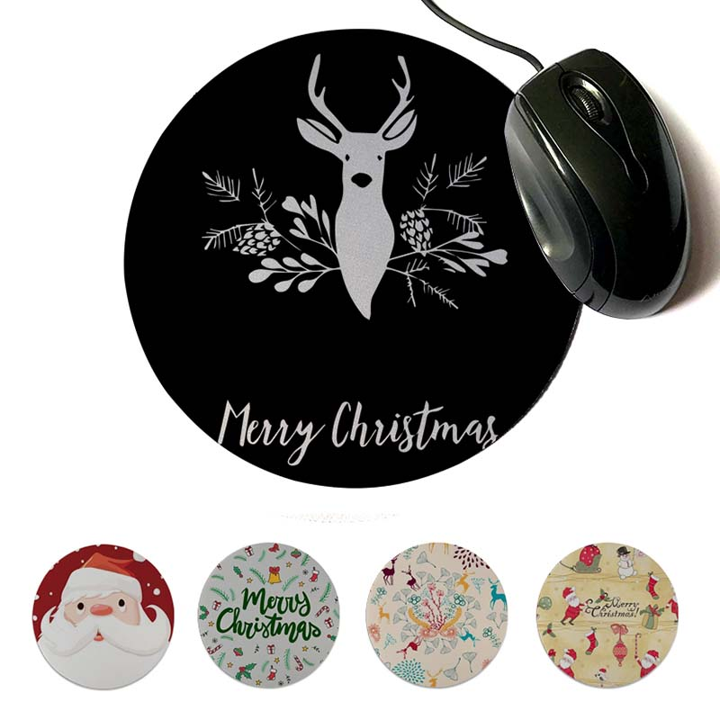MaiYaCa Cool New Christmas Gamer Speed Mice Retail Small Rubber Mousepad Round mouse pad 22x22cm 20x20cm
