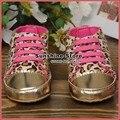 Девочка пинетки для детей рождественские кроссовки для малыша обуви; Leopard cheetah печати! Дети спорт prewalker #2B2034 3 пара/лот