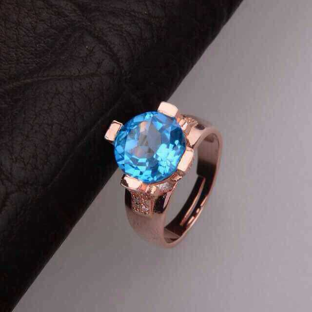 Natural blue topaz stone Ring Natural gemstone Ring S925 sterling silver trendy Elegant big round women girl gift JewelryNatural blue topaz stone Ring Natural gemstone Ring S925 sterling silver trendy Elegant big round women girl gift Jewelry