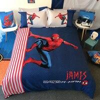 disney home textile queen size bed set egyptian cotton 3D bedding set spider man pillowcase kid bedroom decor 4pc bed linen boys