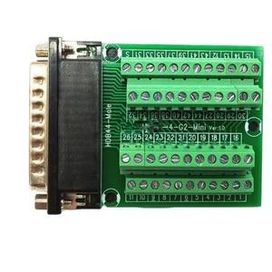 Image 2 - DB44 44 conector de montaje de riel DIN macho hembra Mini Terminal Breakout adaptador de placa Tipo PCI