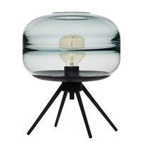 Современная американская стеклянная настольная лампа креативная спальня прикроватная лампа коричневый синий серый стеклянный абажур лам