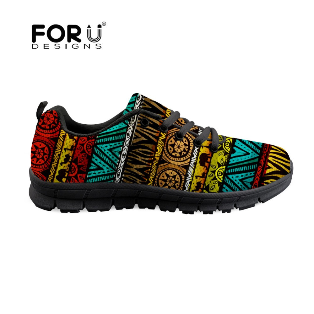 FORUDESIGNS Vintage Ethnic Design Spring 2018 Women Sneakers Shoes Fashion Air Mesh Casual Flats Footwear for Ladies Woman Shoes