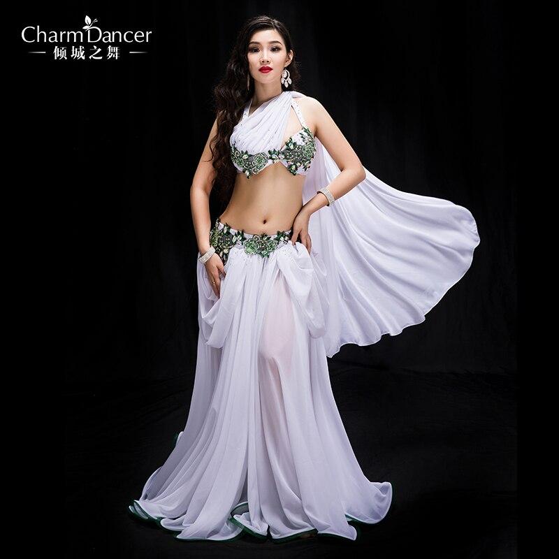 Newest High Grade Professional Performance Dancewear Bra+skirt  Outfit Women Brand Bellydance Costumes   YC044