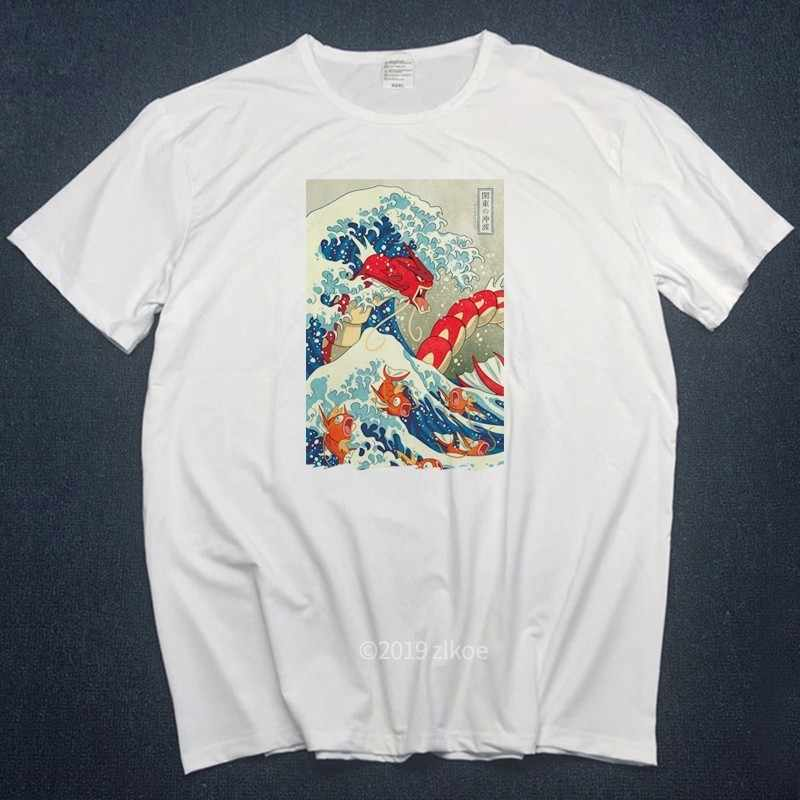 New Designer t shirt men The Great Wave of English Bulldog T-shirt For Man off white T Shirts woman 2019 plus Short streetwear