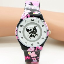 New butterfly design Children Watch Boy Girl Kids Movement Waterproof Sports Qua