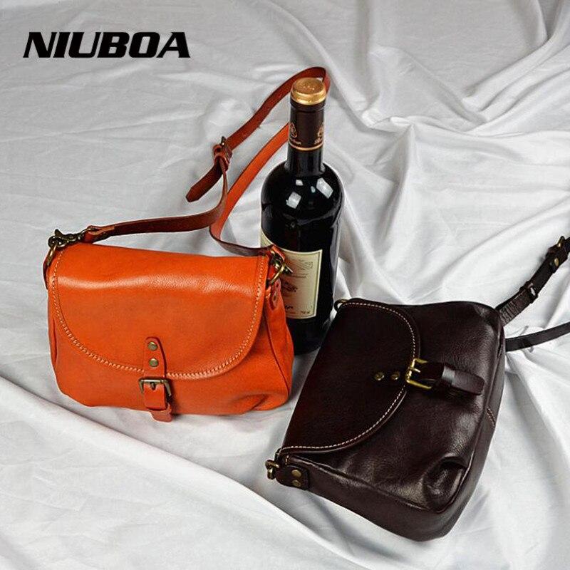 シンプルなフラップショルダーナチュラルレザーバッグ女性ガールズピュアスーパーソフトメッセンジャー胸バッグクロスボディハンドバッグボルサ feminina  グループ上の スーツケース & バッグ からの トップハンドルバッグ の中 1