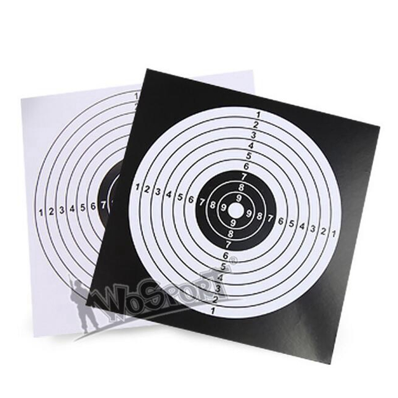 Target Paper For Pfeil Bogen Schieben Jagd Praxis Papier Shooting Practice 100Pcs/Pack 14x14cm