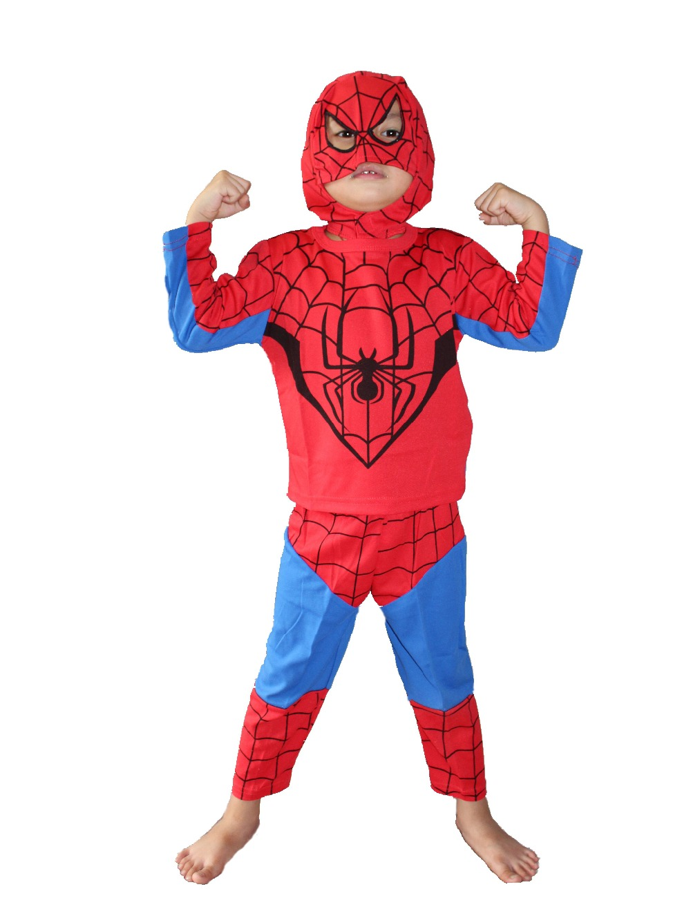 Wholesale -retail 3 - 7 years Halloween Party costumeskids Long sleeve spider-man Role-playing clothing,GHOST roll play