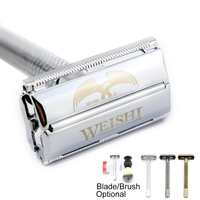 Safety Razor WEISHI Long Handle Copper Alloy 9306 FL Excellent Quality Simple Packing 1PCS LOT NEW