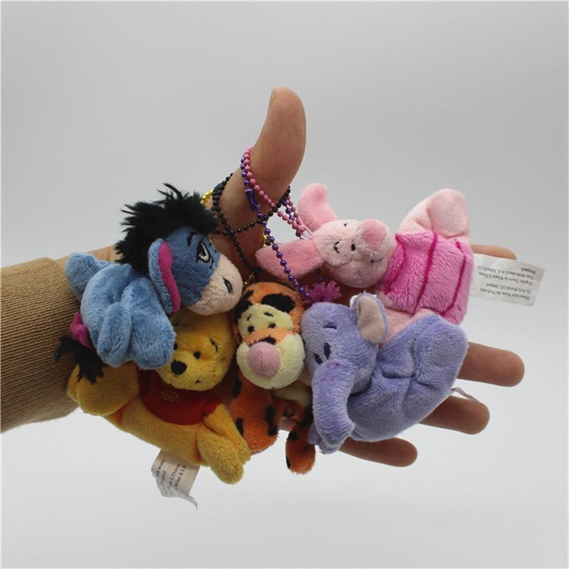 30piece 6 8cm cute bear Tigger Tiger Piglet Pig Eeyore Donkey Heffalump Pendant Soft Toys Bouquets