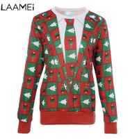 Laamei Men Pullover Sweaters 2018 New Casual For Male Christmas Long Sleeve Brand Sweater Slim Fit Peace Deer Sweater