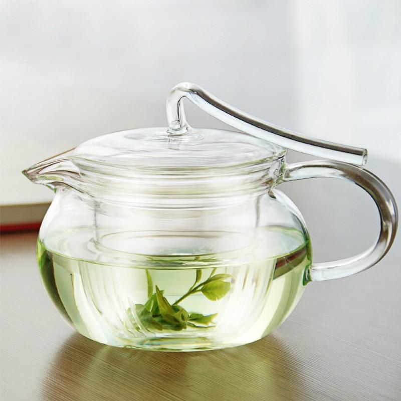 Doprava zdarma 450ml žáruvzdorná skleněná čajová konvice, styl pásu, filtrační nádrž, čajová konvice Puer, pouze průhledná skleněná konvice na čaj