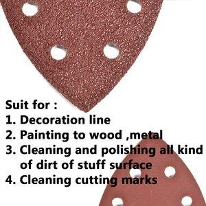 Image 4 - 삼각형 6 구멍 자체 접착 사포 90mm 델타 샌더 모래 종이 후크 및 루프 사포 디스크 연마를위한 연마 도구