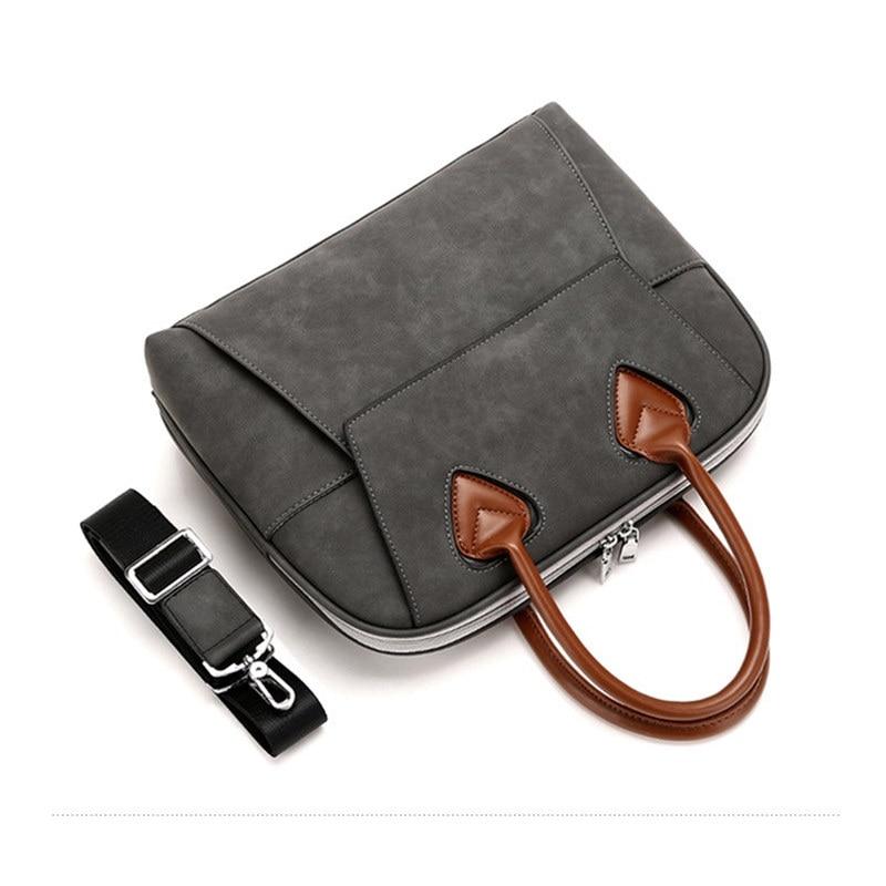 Leather Briefcase Satchel 14-13.3/'/' Laptop Bag Shoulder Messenger Bag Men Women