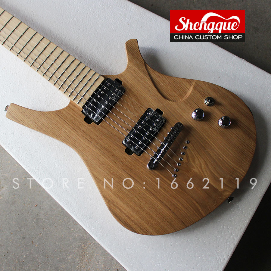 shengque custom 7 strings guitar with alder body maple fingerboard strings through body electric. Black Bedroom Furniture Sets. Home Design Ideas